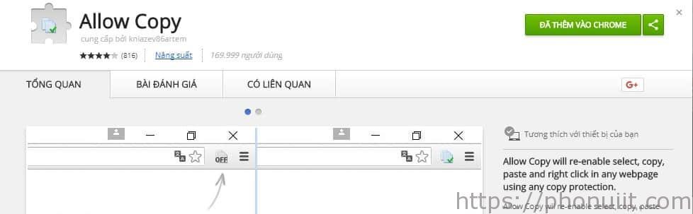 Copy nội dung trên Web khóa chuột trái phải