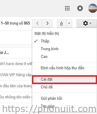 chặn thư rác trên Gmail