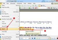 Cách đổi file pdf sang ảnh bằng PDF-Xchange Viewer