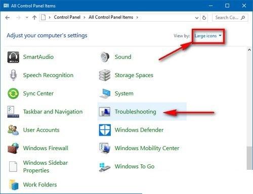 tìm kiếm lỗi Windows 10 tự động