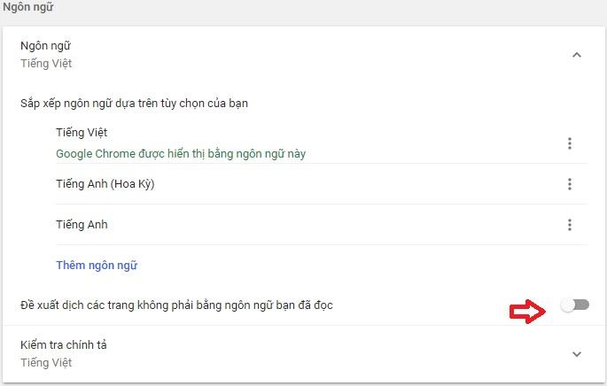 tắt tự động dịch google chrome