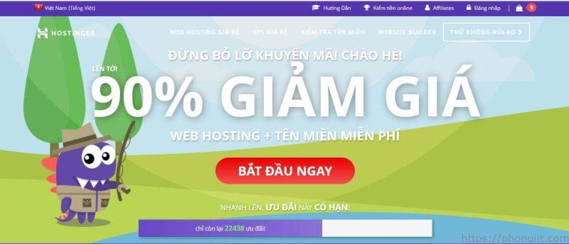 Dịch vụ cung cấp hosting tốc độ cao giá rẻ