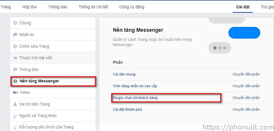 Tích hợp chat Facebook vào website 2018