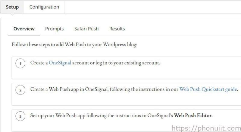 Hướng dẫn tạo thông báo đẩy cho wordpress