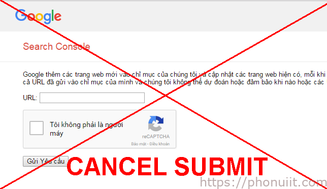 Google ngừng cho submit URL