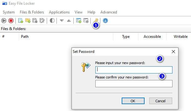 khóa file với phần mềm Easy File Locker